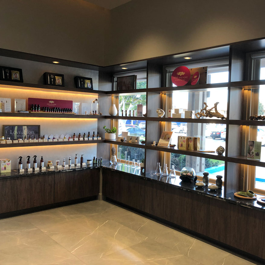 Home Spa Skin Care Retail Area